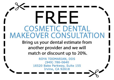 Free Cosmetic Dental Makeover Consultation | Roya Toomarian, DDS | Irvine Cosmetic Dentist